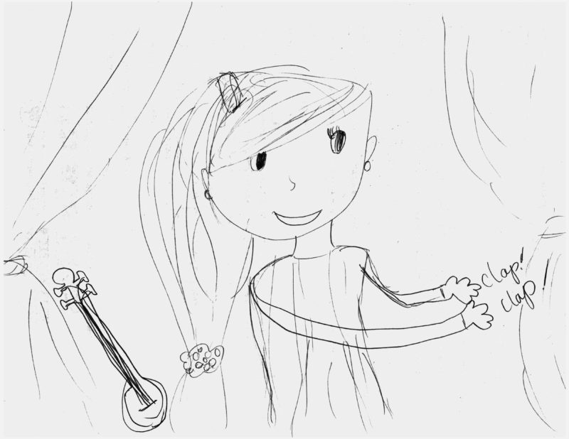 Drawing of a girl (drawn by a kid)